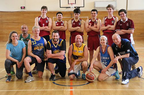 Staff Vs Seniors Basketball Game