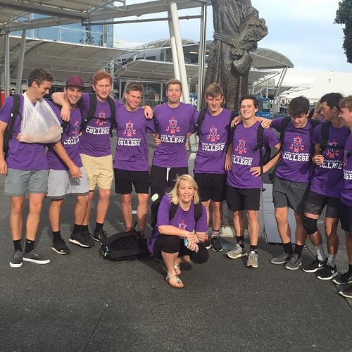 Purple team in Auckland ready to depart.