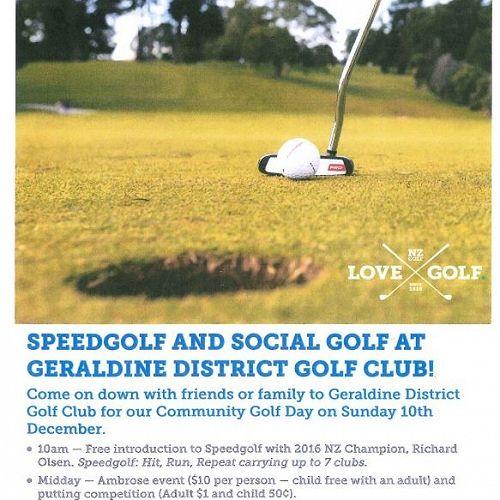 Speedgolf and Social Golf at Geraldine District Golf Club