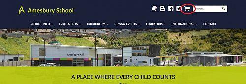 School Shop on Amesbury Website