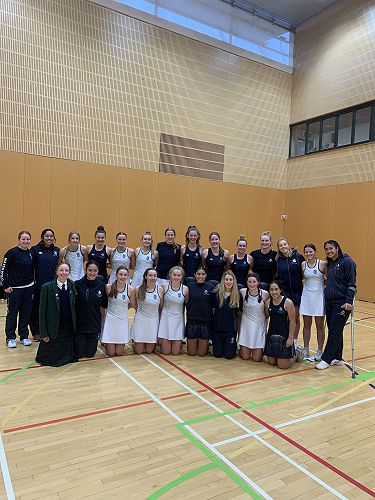 STAC and Columba Senior A Netball all smiles after their final game