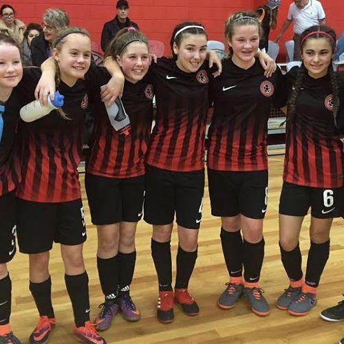 U14 Girls Canterbury Futsall Team
