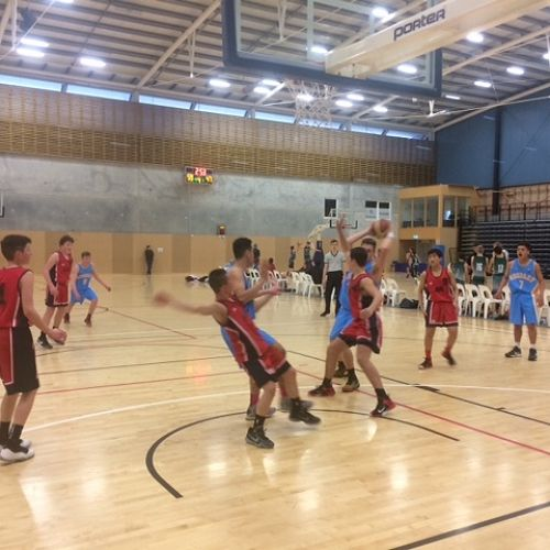 The U/15A basketball team in action at tournament week in Nelson recently.