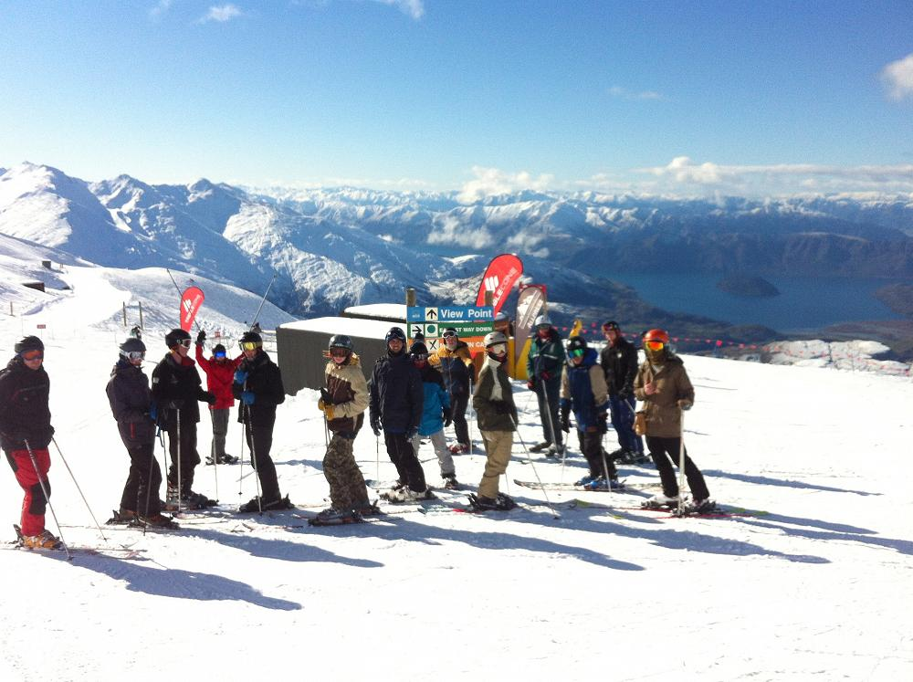View from the top - Year 12 PE Camp, Treble Cone.