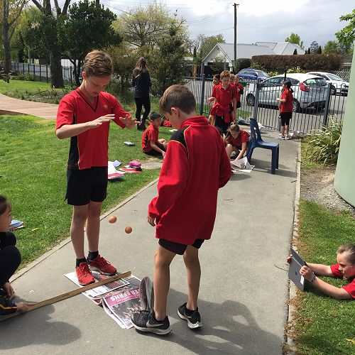 Year 6 students involved in science experiments this week.