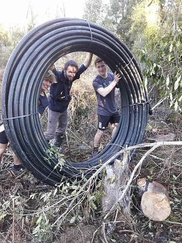 Water Pipe going in - Archie, Ben and Cameron