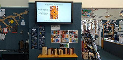 More bookish displays in the library
