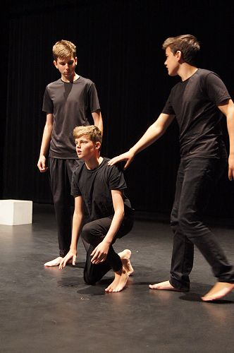 Drama performers from left; Mason Putt, Jona Cooper and Quinn Hawthorne.