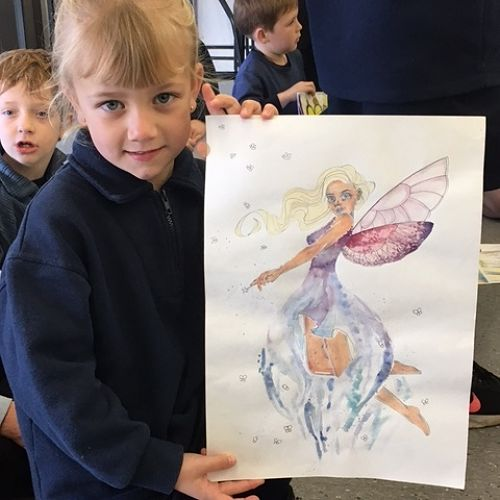 Nayland Primary and Nayland College student art collaboration