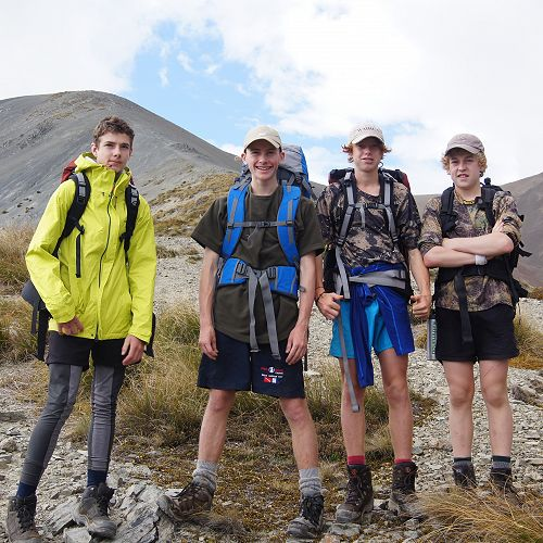 Tom, Tu, Gabe and Billy - the speedy 'mountain goats' of 10JCU