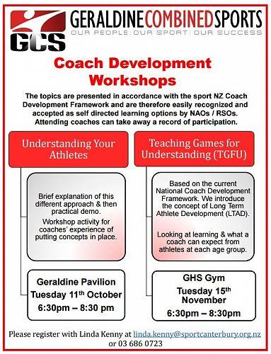 Coach Development Workshops