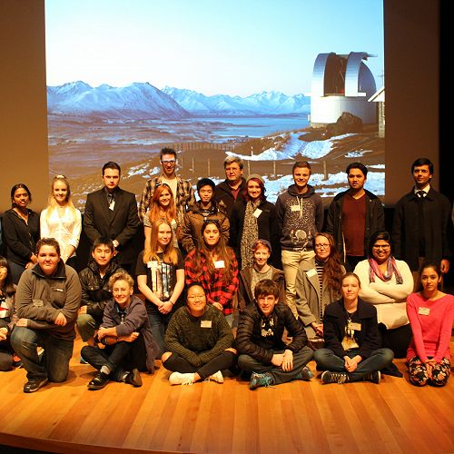 Joshua Daglish at the RASNZ conference. Joshua is second from left in the front row.