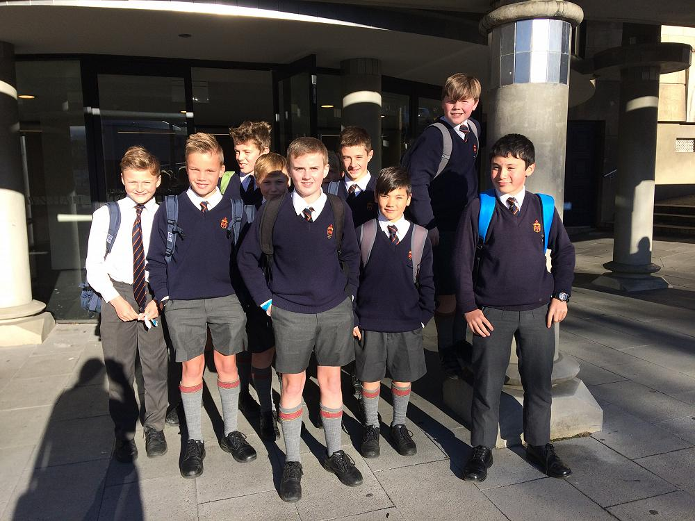 Some of the boys who attended the National Young Leaders Day 2017