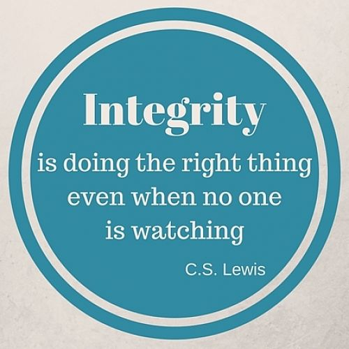 Virtue of the Week - Integrity