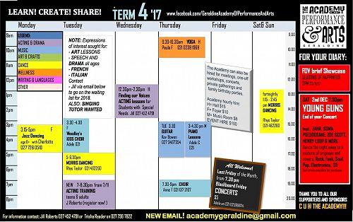 Academy Term 4 Timetable