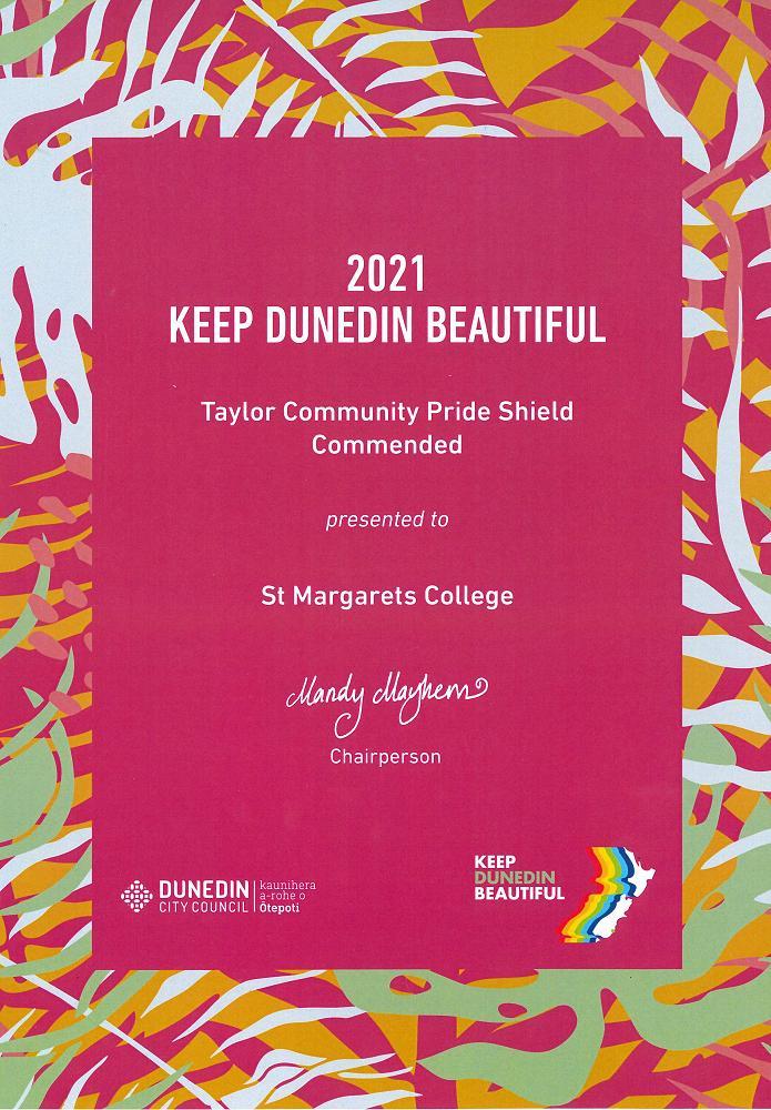 Keep Dunedin Beautiful Commendation Award