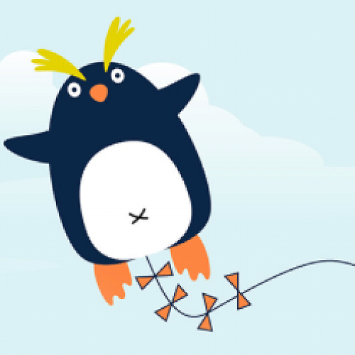 Fly a Penguin - kite making at the City Library on Saturday and fly your kite on Sunday at Camp Estate, Larnach Castle.