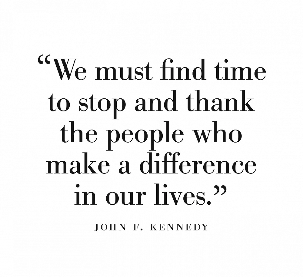 Giving thanks - take time to do it.
