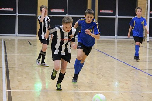 Shay Hyde-Coltman up front for KKC Futsal