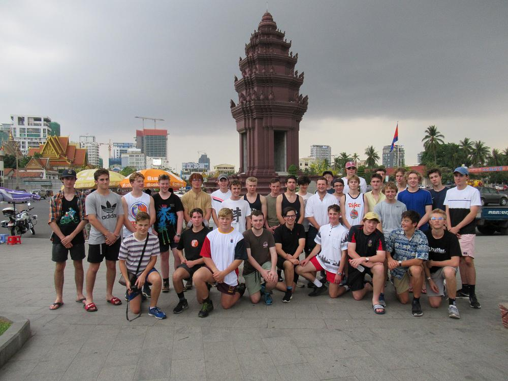 At the Independence Monument, Phnom Penh