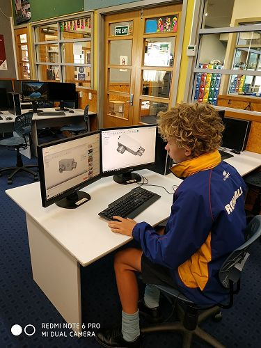 Luca works on learning Computer Aided Design software