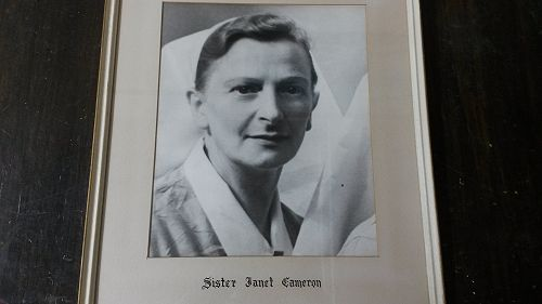 Sister Janet Cameron who the hall is named after