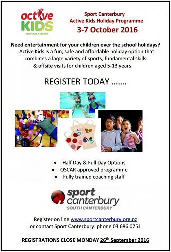 Sport Canterbury Active Kids Holiday Programme