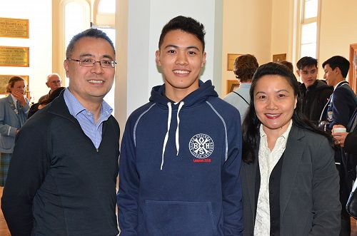 Sean Lau with his parents