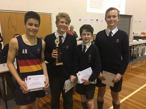 Year 9 Winners - Jack Timu,Michael Buttery, Martin