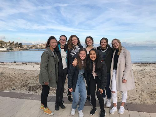 Kiwi girls enjoying the cote d'azur!