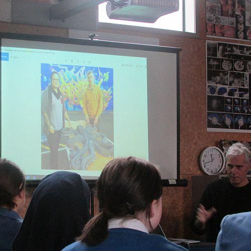 Year Ten Art Visit from Bruce Mahalski