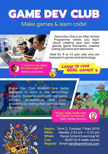 Game Dev Club - The Raroan 3 May 2019