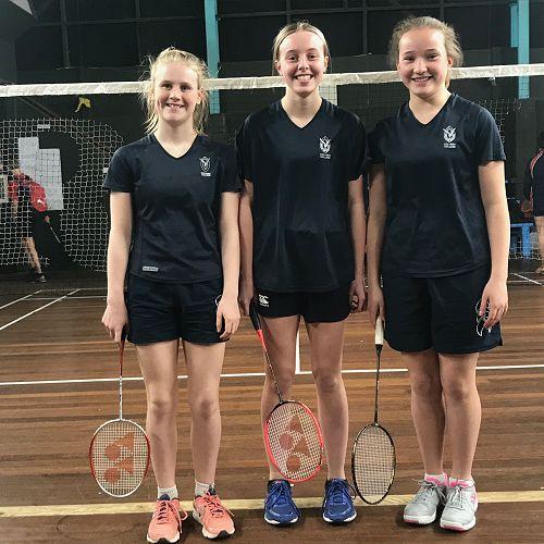 Three representatives selected for Otago U15 Badminton team.   Amelia Loudon, Keira Hollamby and Mia Revell-Lynch.