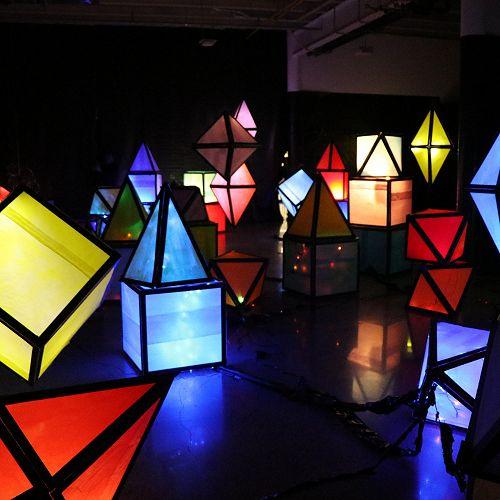 Light up project, lanterns lit up