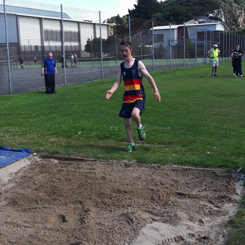 A giant leap from outside the sandpit.