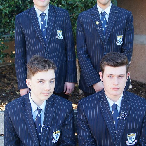 Front row; Cam Fraser and Thomas Bowen. Back row; Bailey Wills and Radin Vajedi