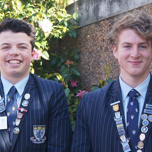 Jacob (left) and Aaron