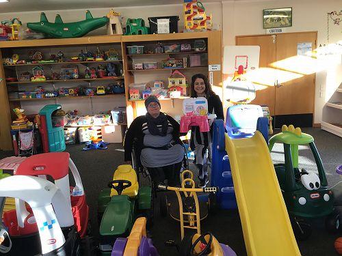 Invercargill Toy Library Coordinator Laurel (left)