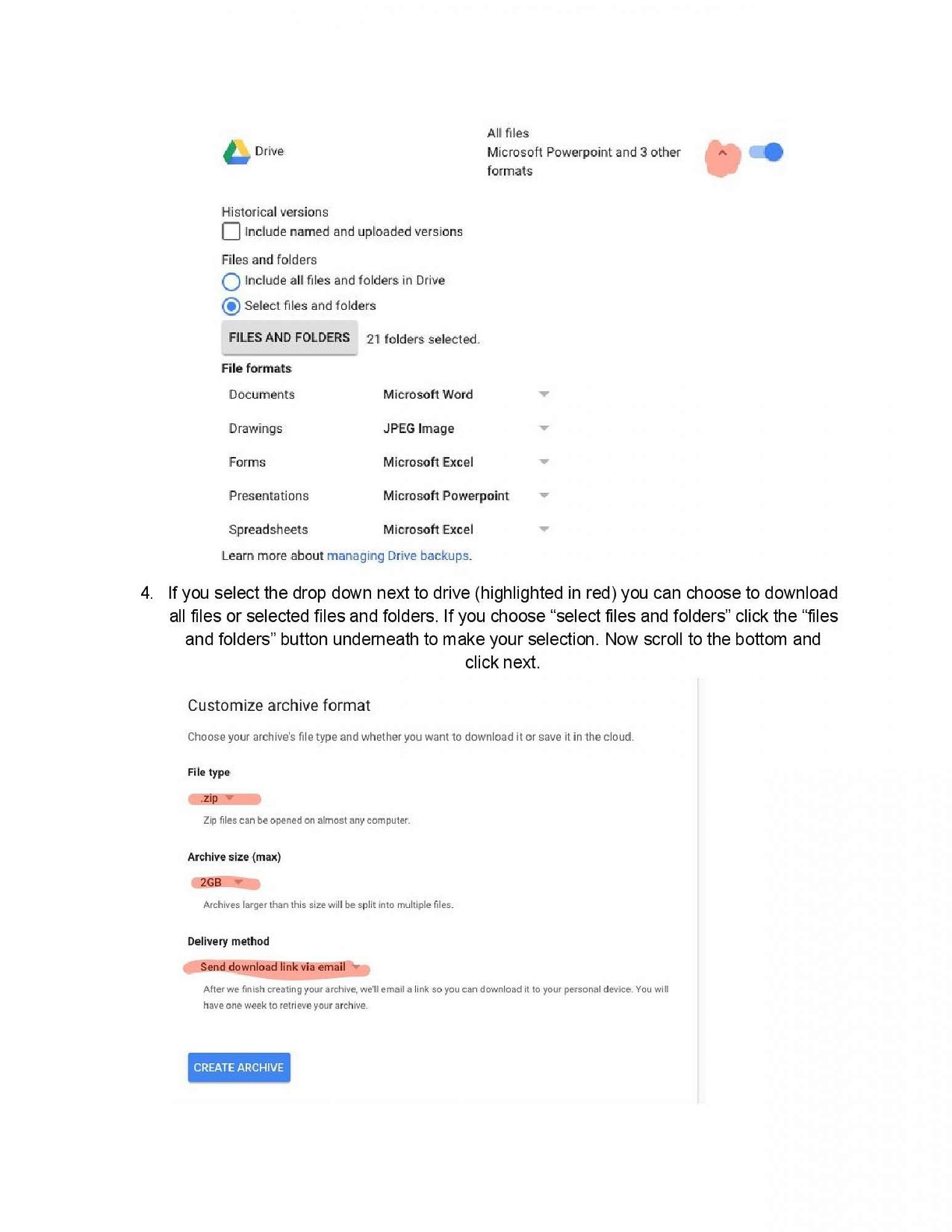 Instructions page 2