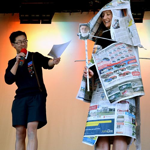 Culture committee Newspaper Fashion Show September 15th