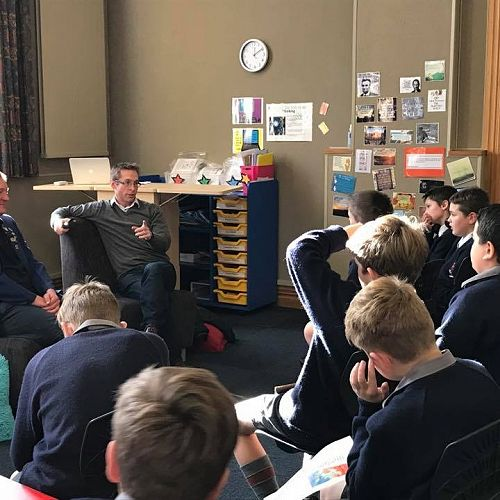 Old boys visit our current Year 7s