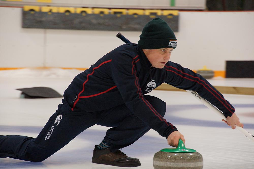 Bailey Dowling at NZ U21 Curling