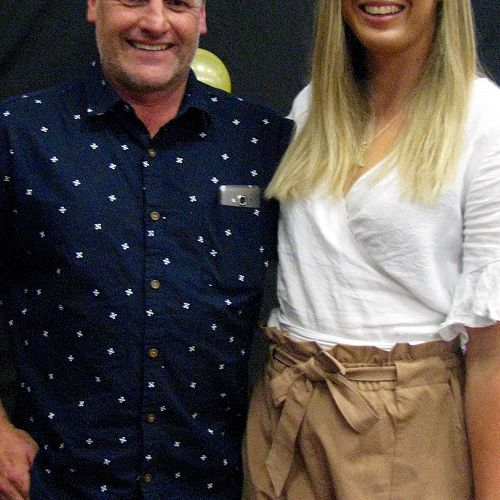 Mr Powell pictured with Laura Sadler