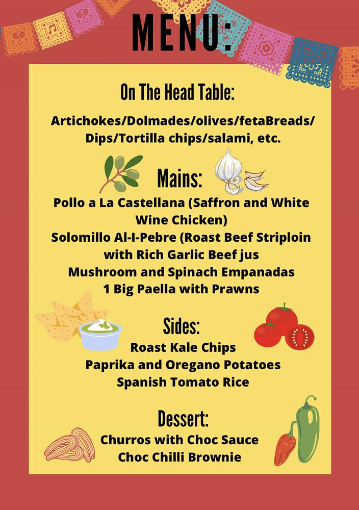 Spanish theme dinner, 8/5/21