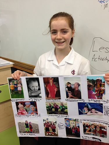 Ruby from Room 2 created a photo montage of her life
