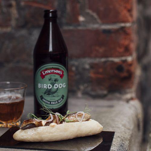 Bird Dog Beer and Hot Dog