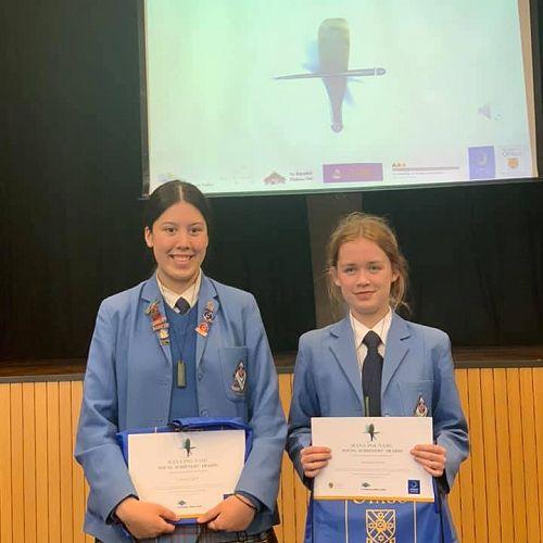 Maisy Costa (tuakana award) and Vanessa Munro (teina award)