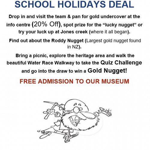 Ross Goldfields School Holiday Deal