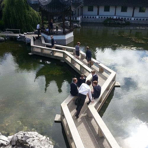 Year 9 Drama students in the Dunedin Chinese Garden