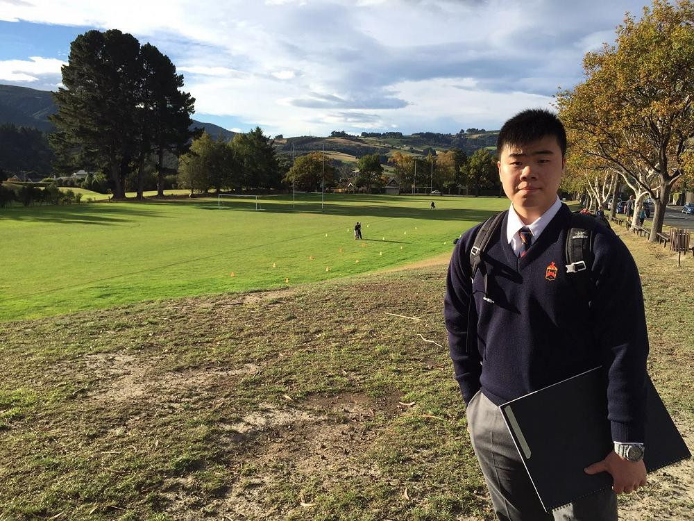Trevor Au from Hong Kong was recommended John McGlashan College by his sister who has been studying here in term 1.
